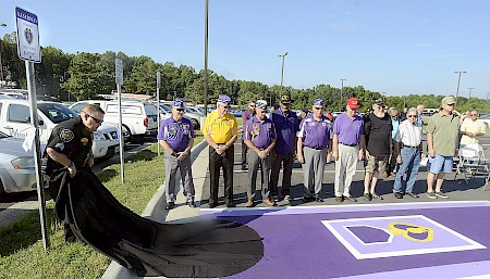 Purple Heart Appreciation; Wounded Warriors Honored with Parking Spaces