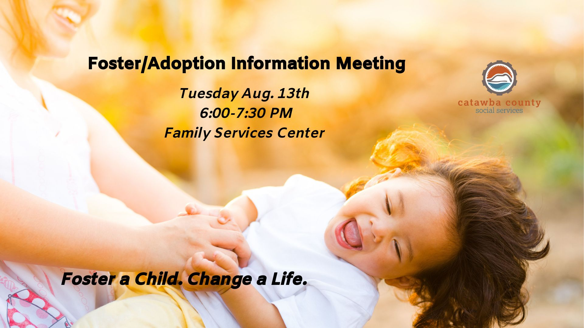 Foster/Adoption Information Meeting Aug 13 2019